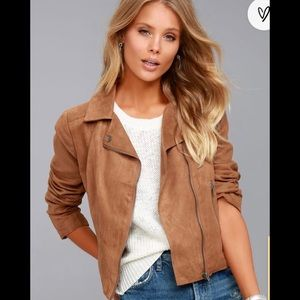 Jack by BB Dakota Johanness Suede Jacket in Camel